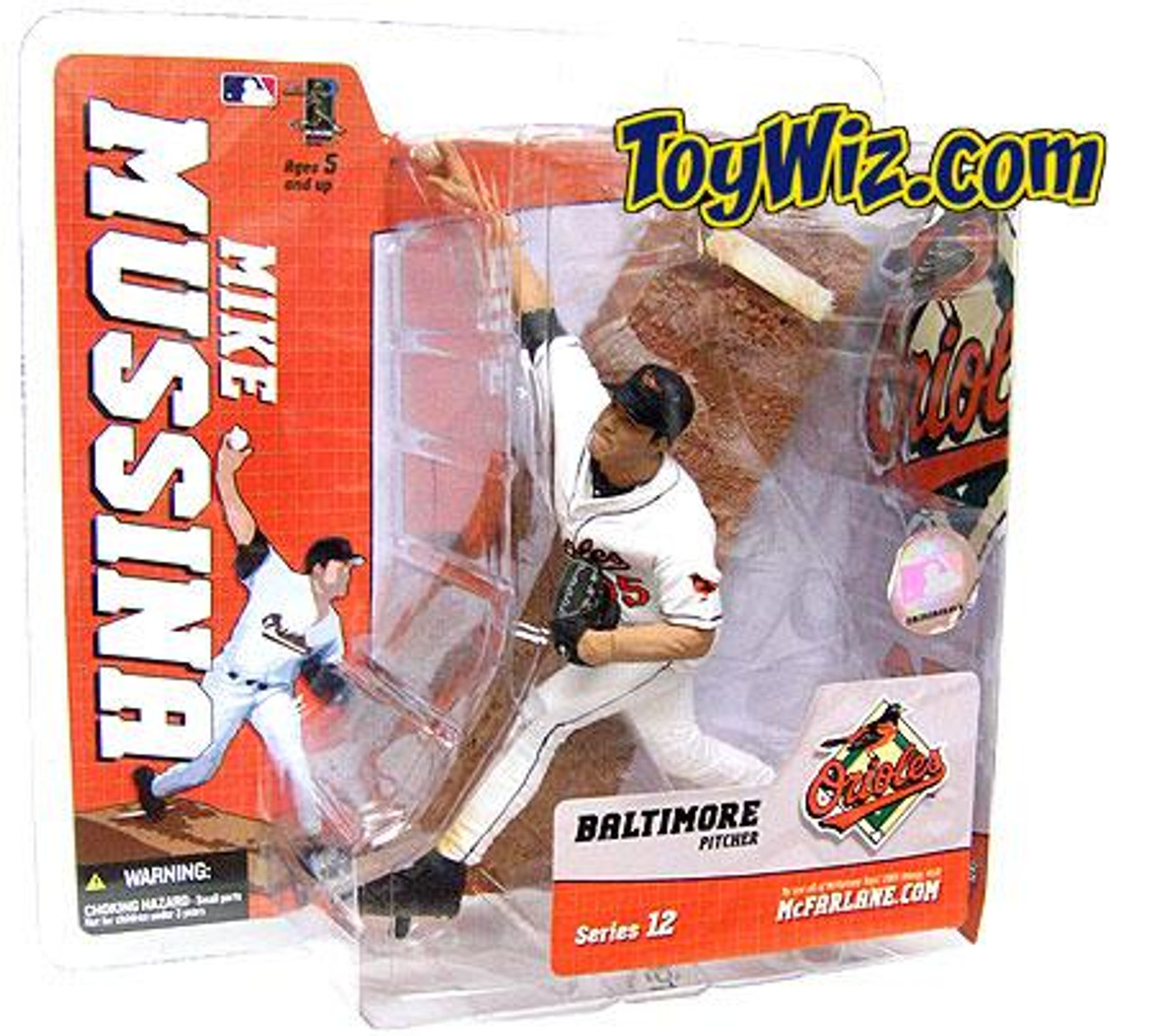 McFarlane Toys MLB Baltimore Orioles Sports Picks Series 12 Mike Mussina Action Figure [White Jersey Variant]