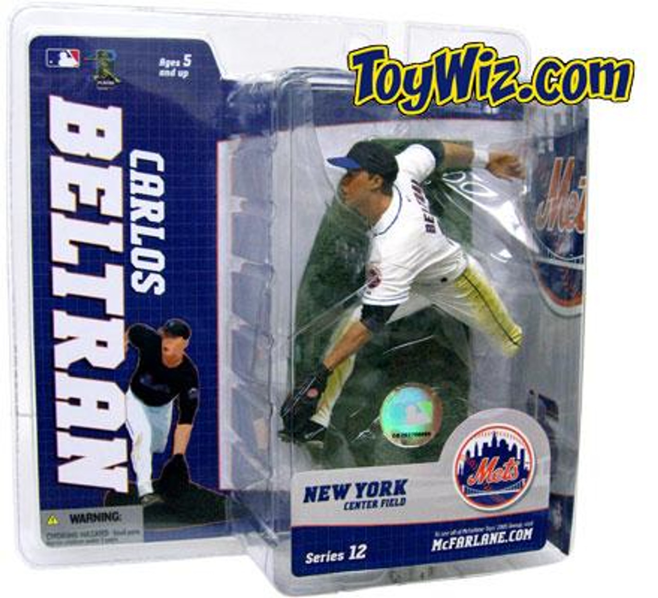 McFarlane Toys MLB New York Mets Sports Picks Series 12 Carlos Beltran Action Figure [White Jersey Variant]