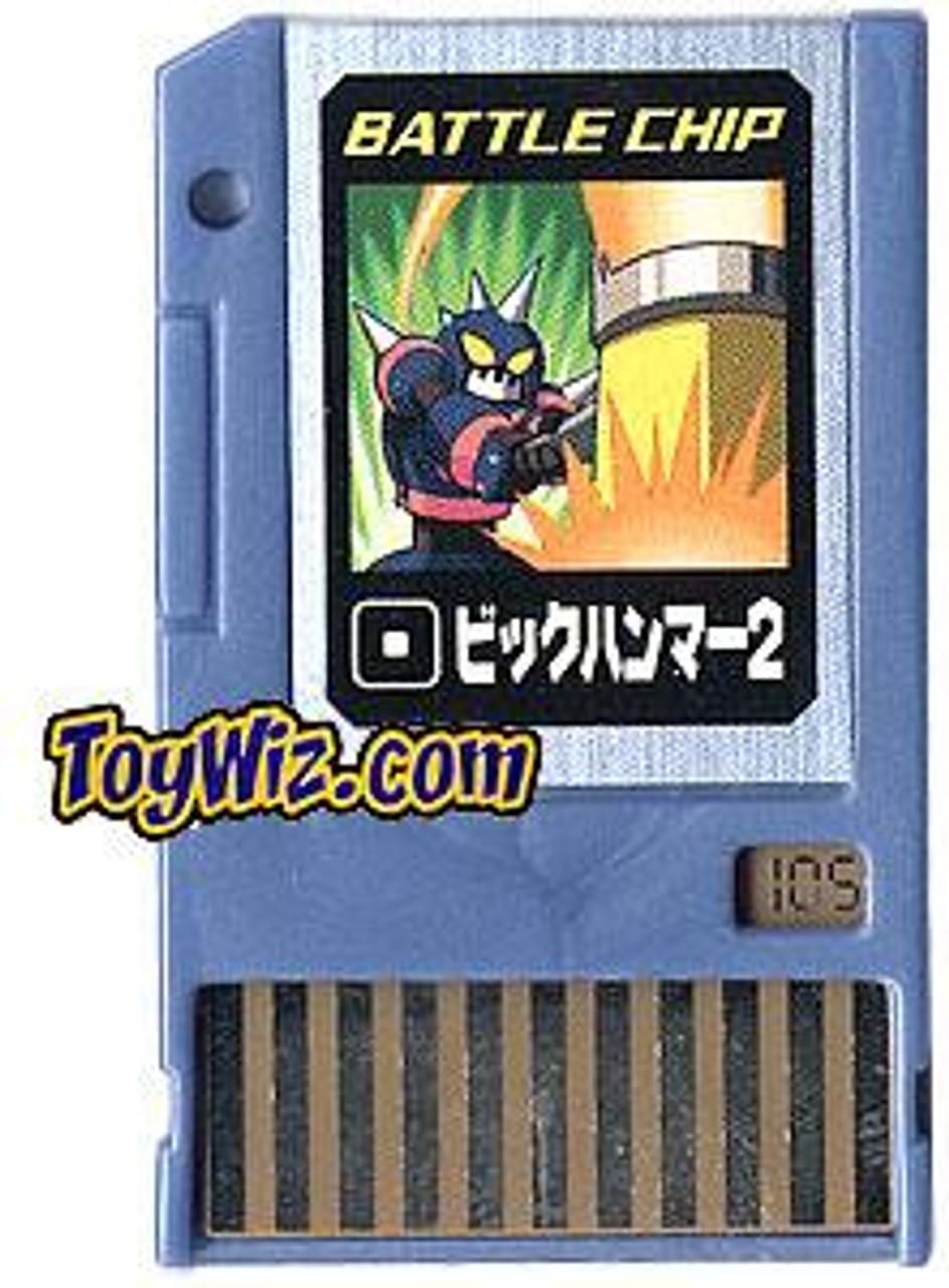 Capcom Mega Man Japanese PET Big Hammer Battle Chip #105