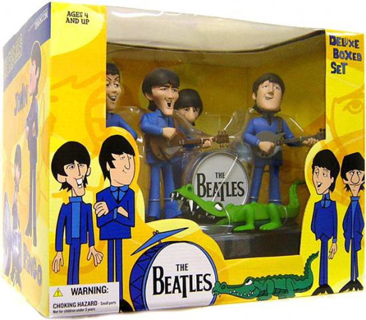 McFarlane Toys The Beatles Saturday Morning Cartoon Beatles Cartoon Action Figure Set
