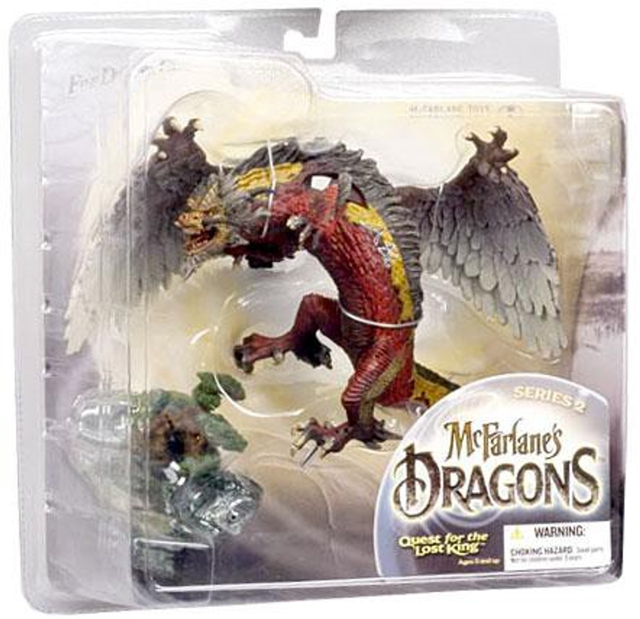 McFarlane Toys Dragons Quest for the Lost King Series 2 Fire Clan Dragon 2 Action Figure