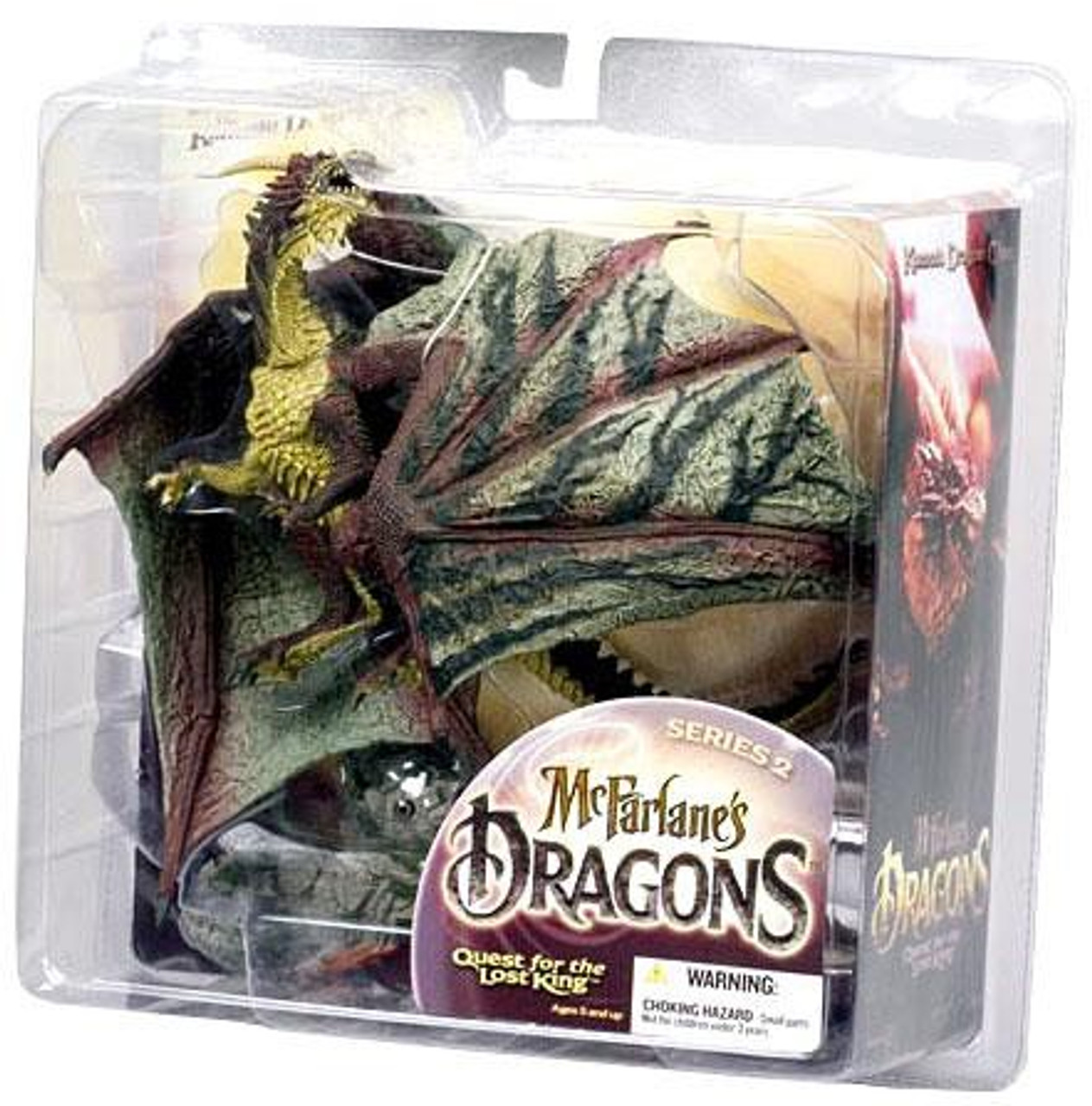 McFarlane Toys Dragons Quest for the Lost King Series 2 Komodo Clan Dragon 2 Action Figure