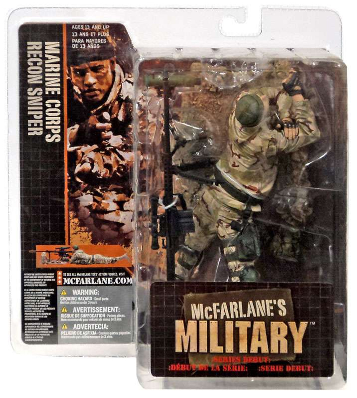 McFarlane Toys Military Marine Corps Recon Sniper Action Figure [Caucasian]