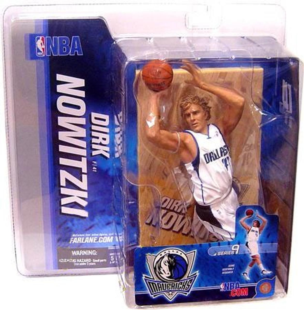McFarlane Toys NBA Dallas Mavericks Sports Picks Series 9 Dirk Nowitzki Action Figure [White Jersey]