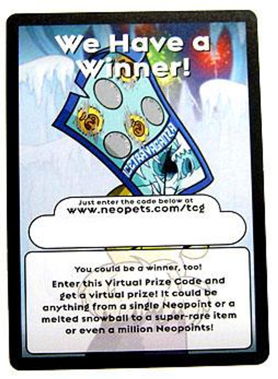 Neopets Hannah and Ice Caves Rare Item Prize Code Card