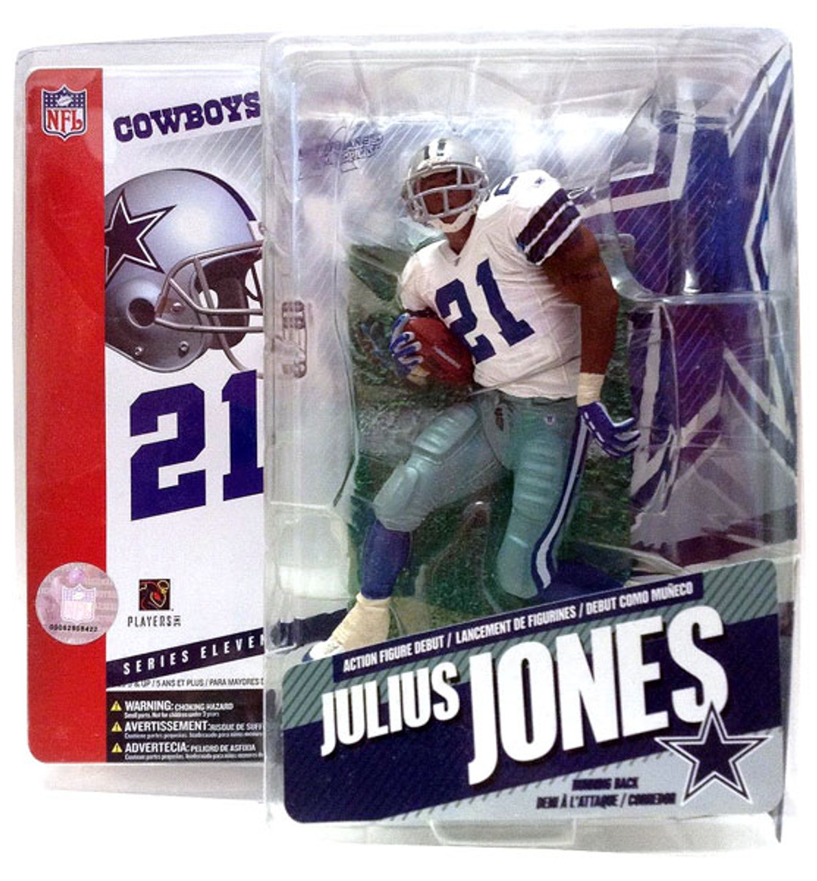 McFarlane Toys NFL Dallas Cowboys Sports Picks Series 11 Julius Jones Action Figure [White Jersey]