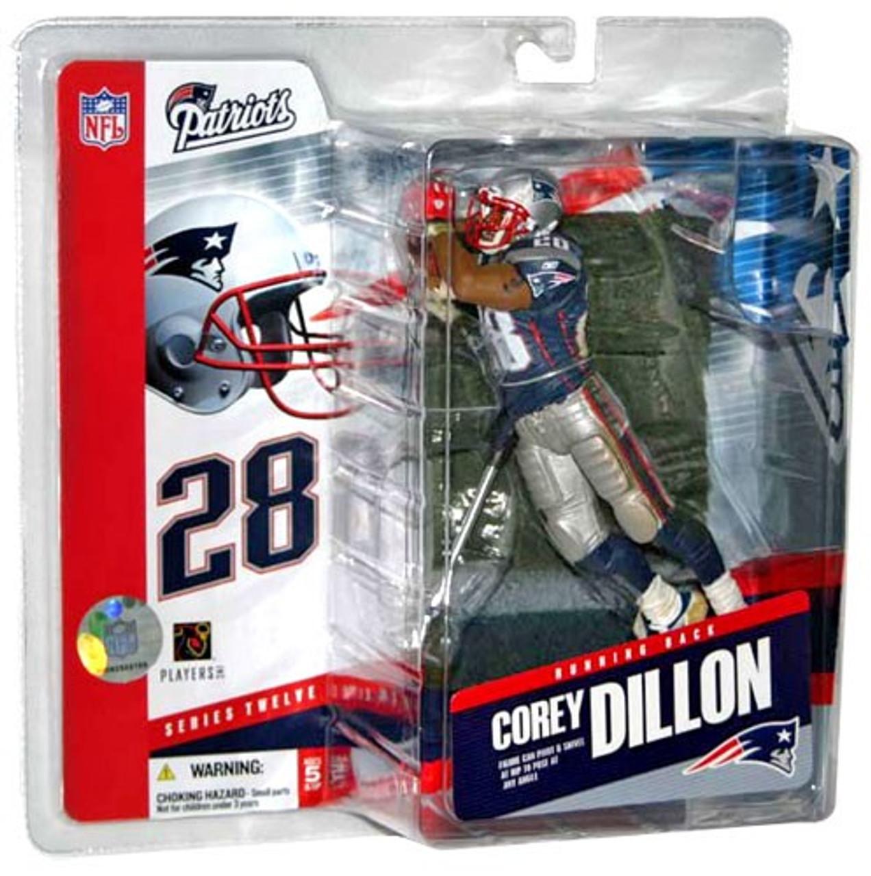 McFarlane Toys NFL New England Patriots Sports Picks Series 12 Corey Dillon Action Figure
