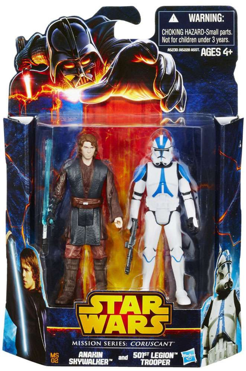 Star Wars Revenge of the Sith Mission Series 2013 Anakin Skywalker & 501st Legion Trooper Action Figure 2-Pack MS02 [Coruscant]