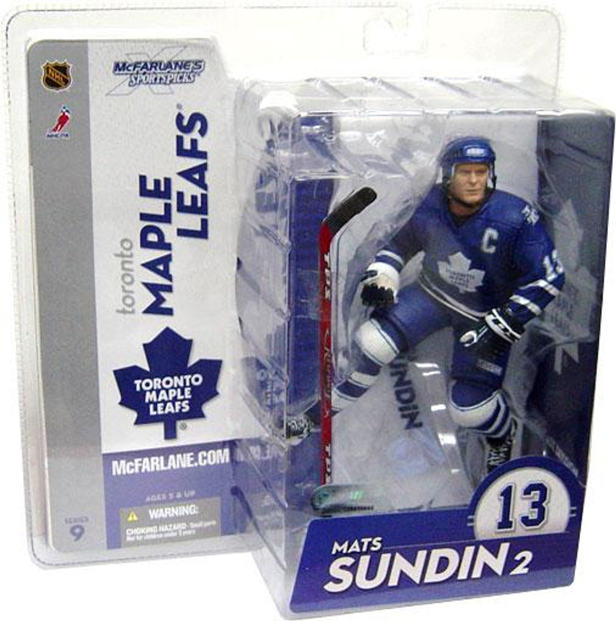McFarlane Toys NHL Toronto Maple Leafs Sports Picks Series 9 Mats Sundin Action Figure [Blue Jersey Variant]