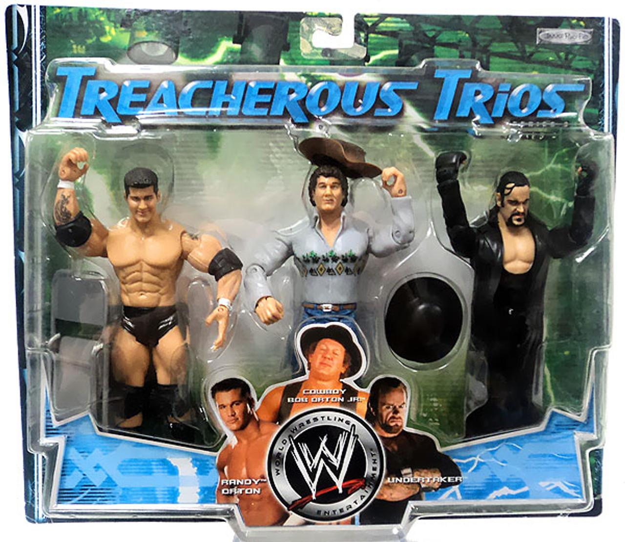 WWE Wrestling Treacherous Trios Series 3 Randy Orton, Cowboy Bob Orton & Undertaker Exclusive Action Figure 3-Pack