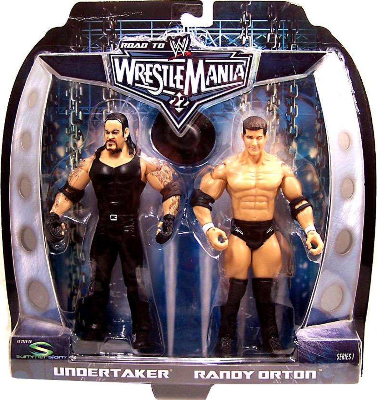 WWE Wrestling Road to WrestleMania 22 Series 1 Randy Orton vs. Undertaker Action Figure 2-Pack