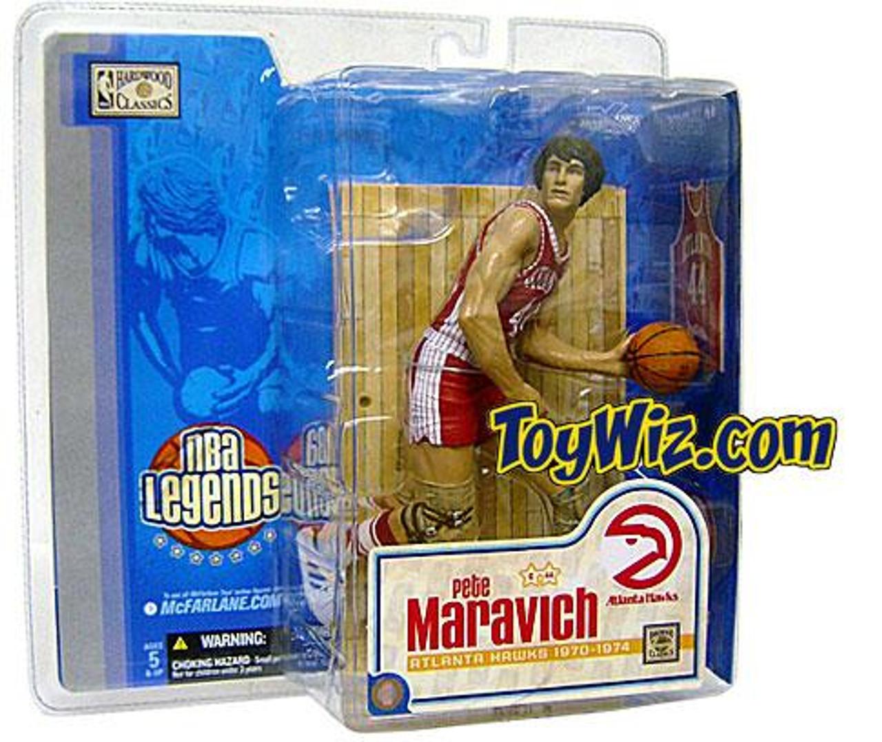 McFarlane Toys NBA Atlanta Hawks Sports Picks Legends Series 1 Pete Maravich Action Figure [Red Jersey Variant]