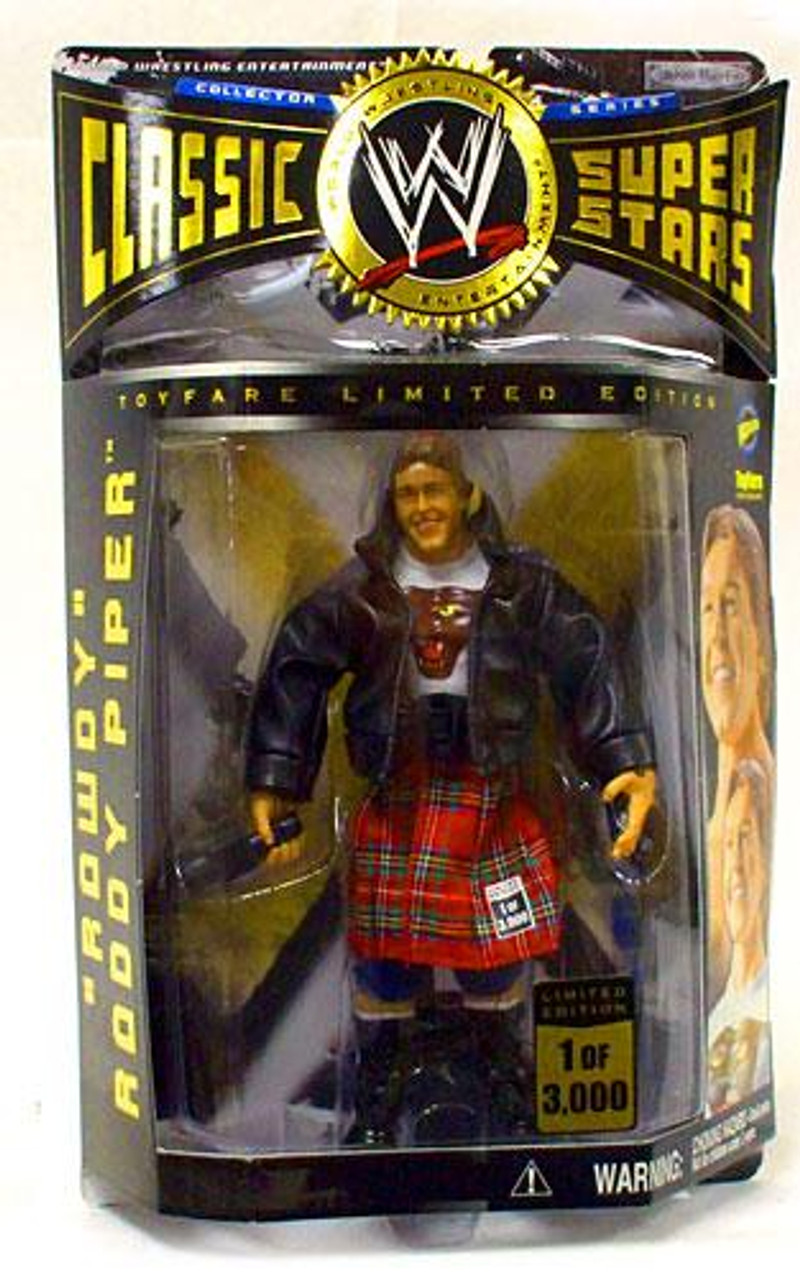 WWE Wrestling Classic Superstars Piper's Pit Rowdy Roddy Piper Exclusive Action Figure