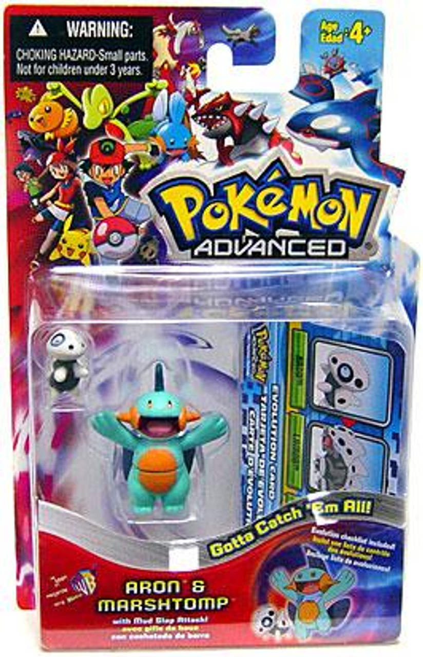 Pokemon Advanced Aron & Marshtomp Mini Figure 2-Pack