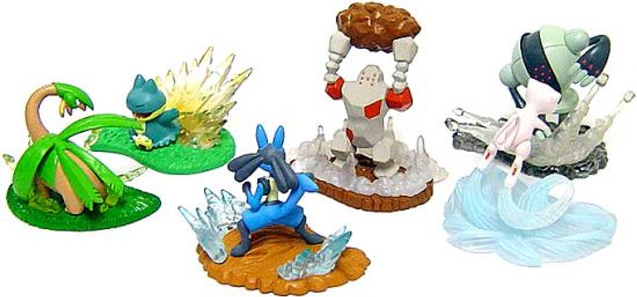 Pokemon Set of 6 Action Battlers Mini Figures