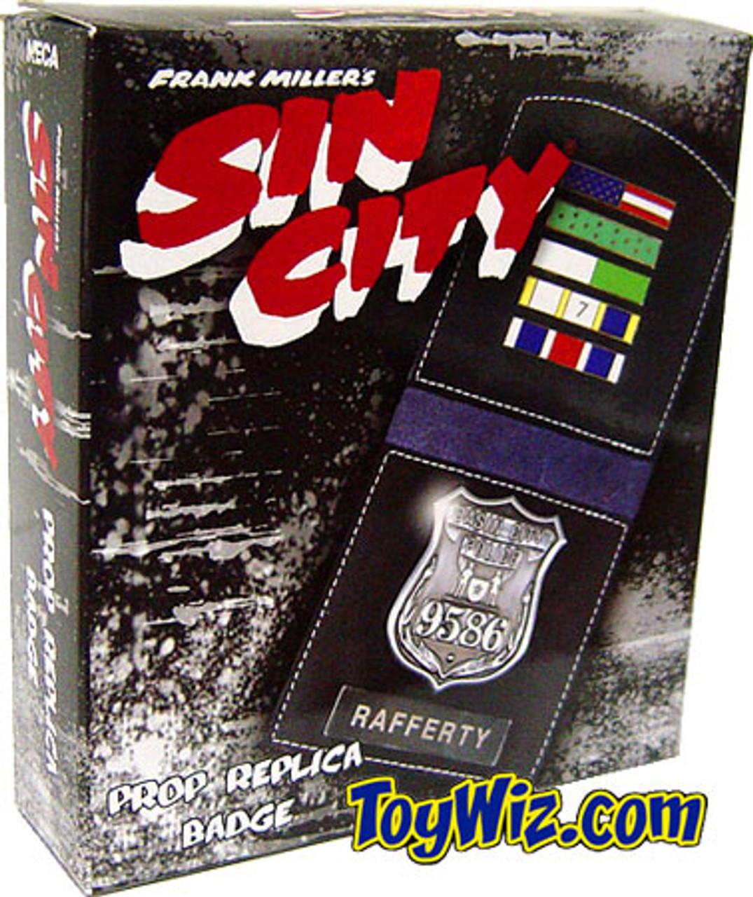 NECA Sin City Rafferty's Badge Prop Replica