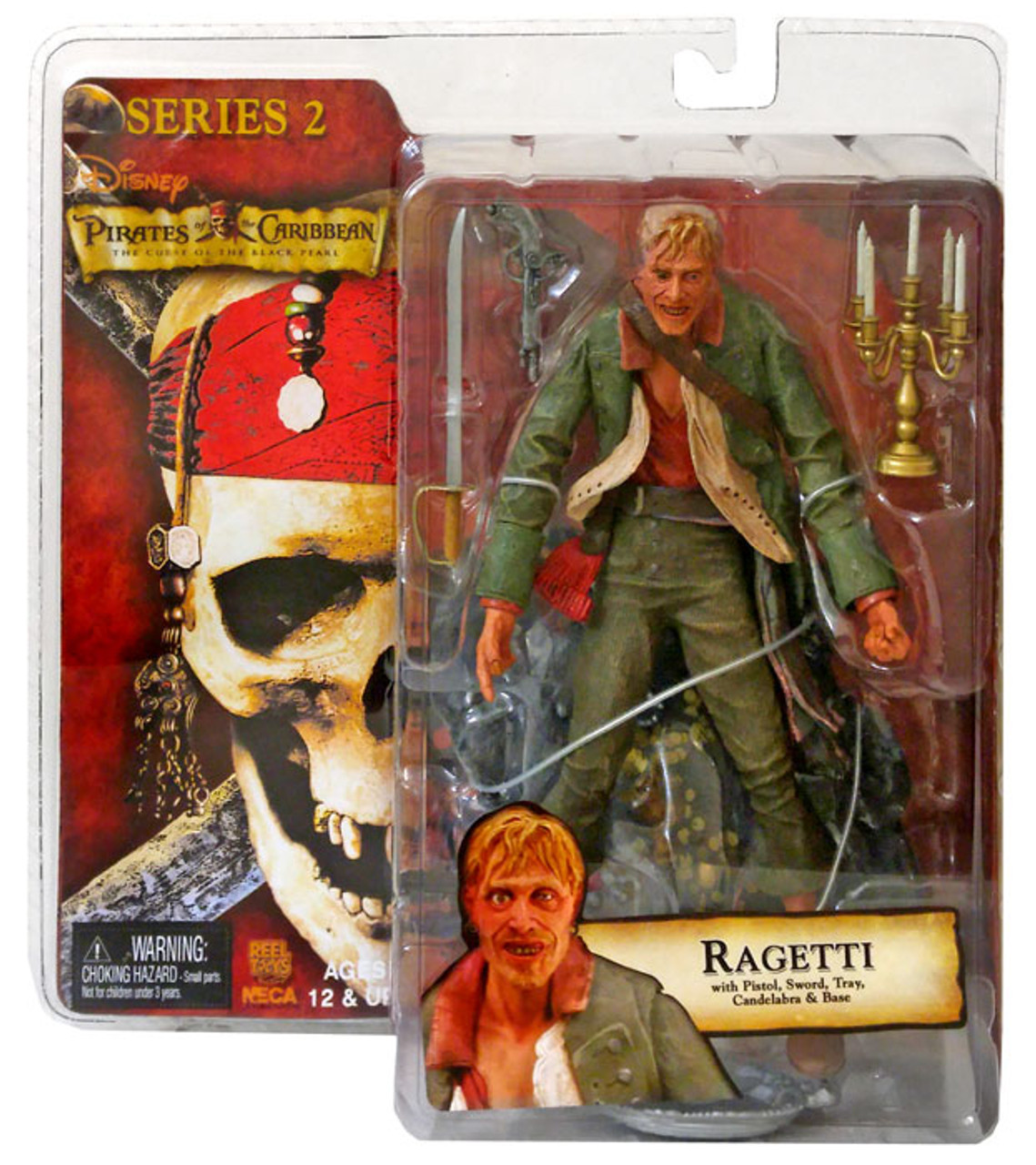 NECA Pirates of the Caribbean Curse of the Black Pearl Series 2 Ragetti Action Figure