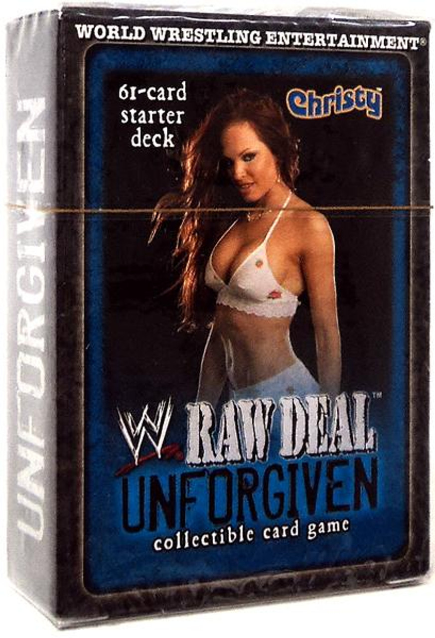 WWE Wrestling Raw Deal Trading Card Game Unforgiven Christy Starter Deck