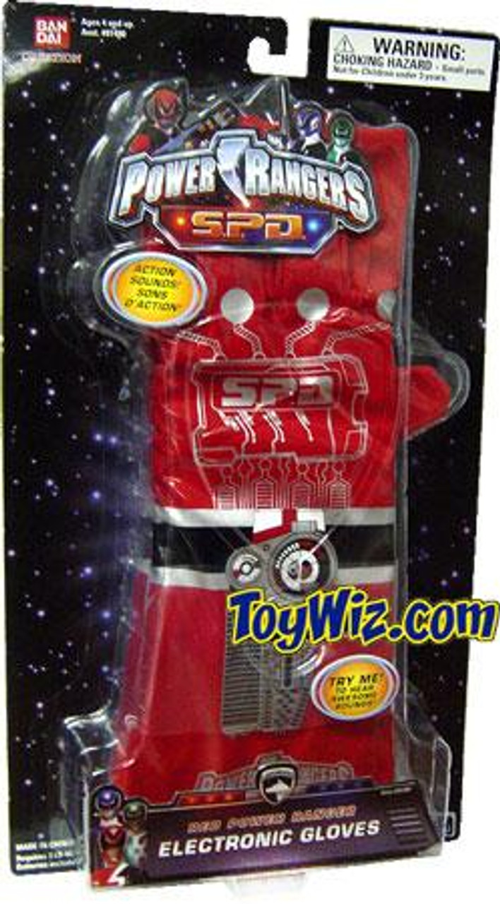 Power Rangers SPD Red Power Ranger Electronic Gloves Roleplay Toy