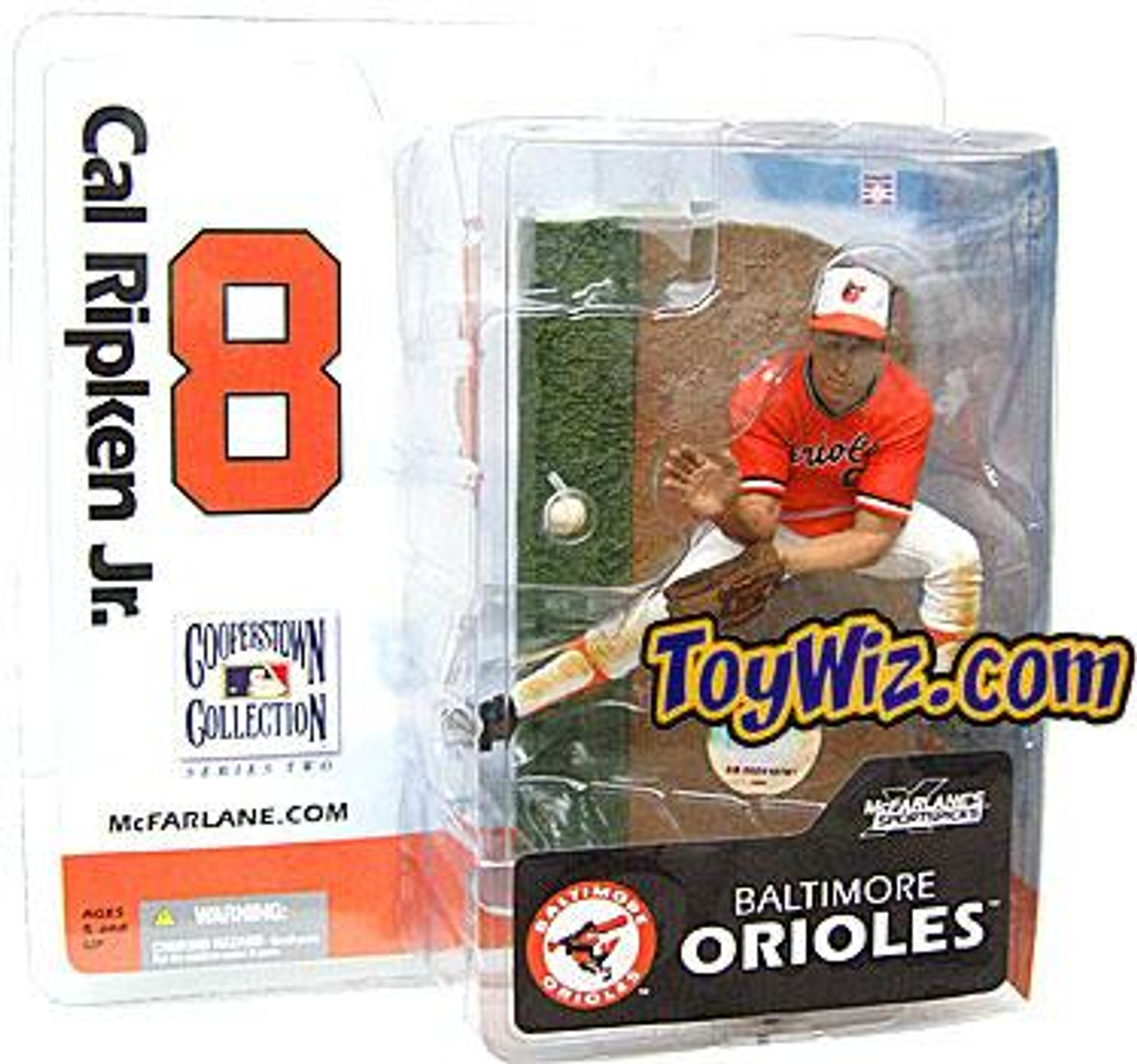 McFarlane Toys MLB Cooperstown Collection Series 2 Cal Ripken Jr. Action Figure [Orange Jersey]