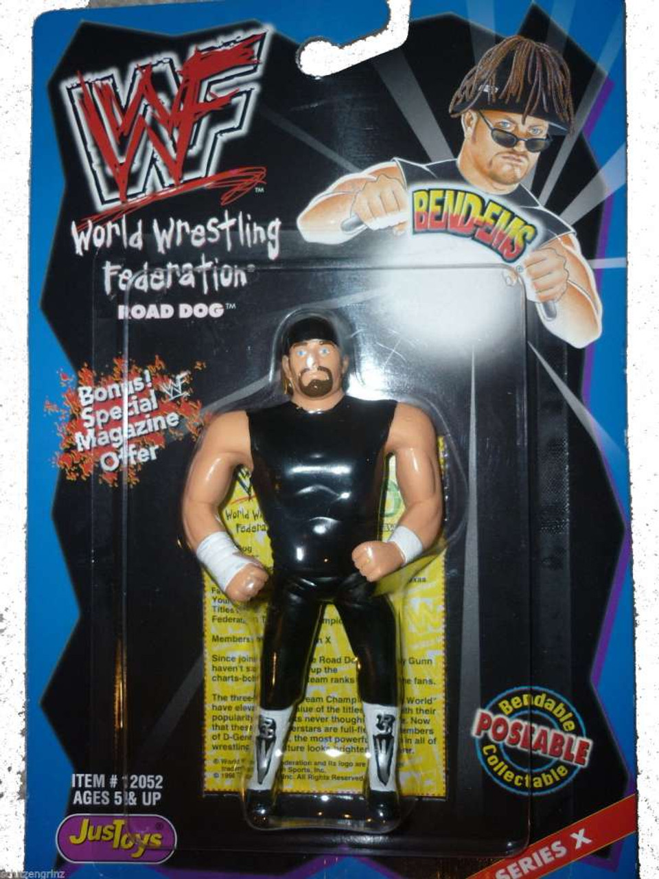 WWE Wrestling WWF Bend-Ems Series 10 Road Dogg Rubber Figure