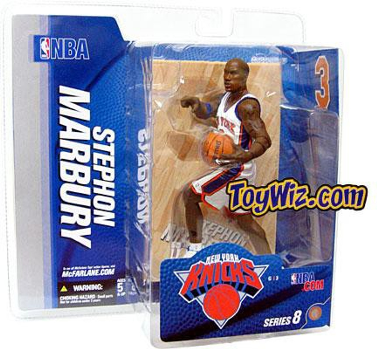McFarlane Toys NBA New York Knicks Sports Picks Series 8 Stephon Marbury Action Figure [White Jersey Variant]