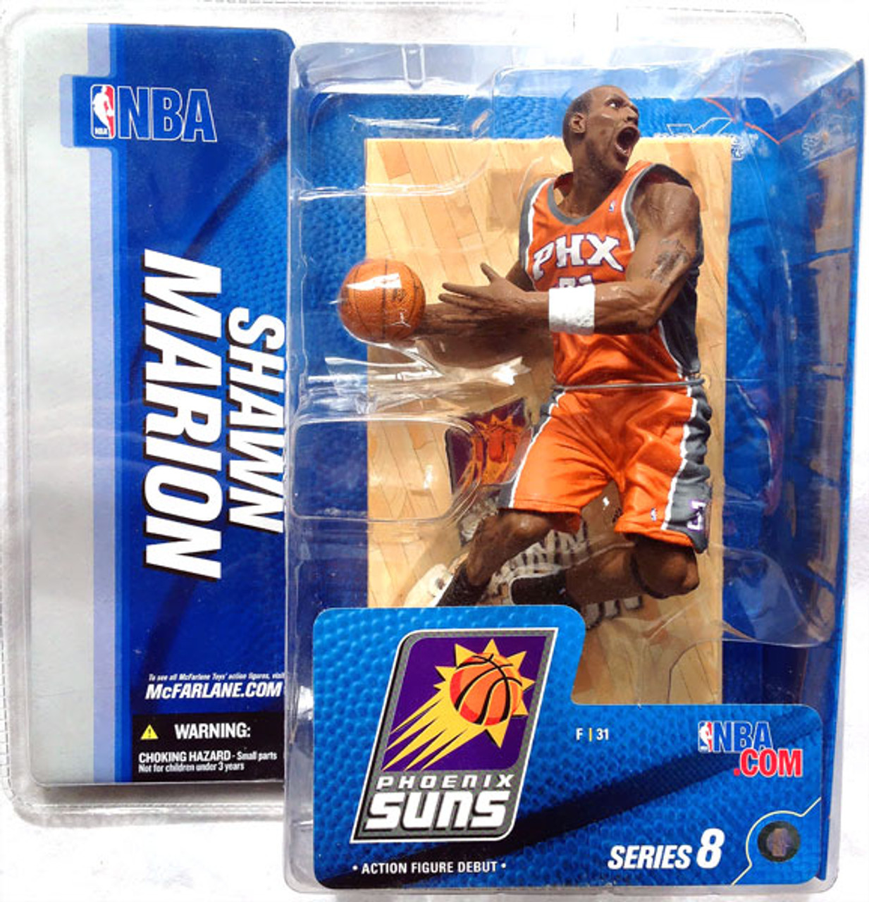 McFarlane Toys NBA Phoenix Suns Sports Picks Series 8 Shawn Marion Action Figure [Orange Jersey Variant]