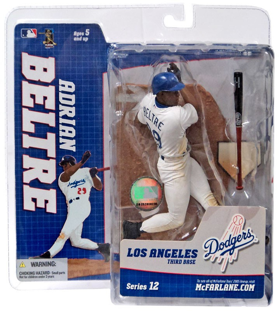 McFarlane Toys MLB Los Angeles Dodgers Sports Picks Series 12 Adrian Beltre Action Figure [White Retro Jersey Variant]
