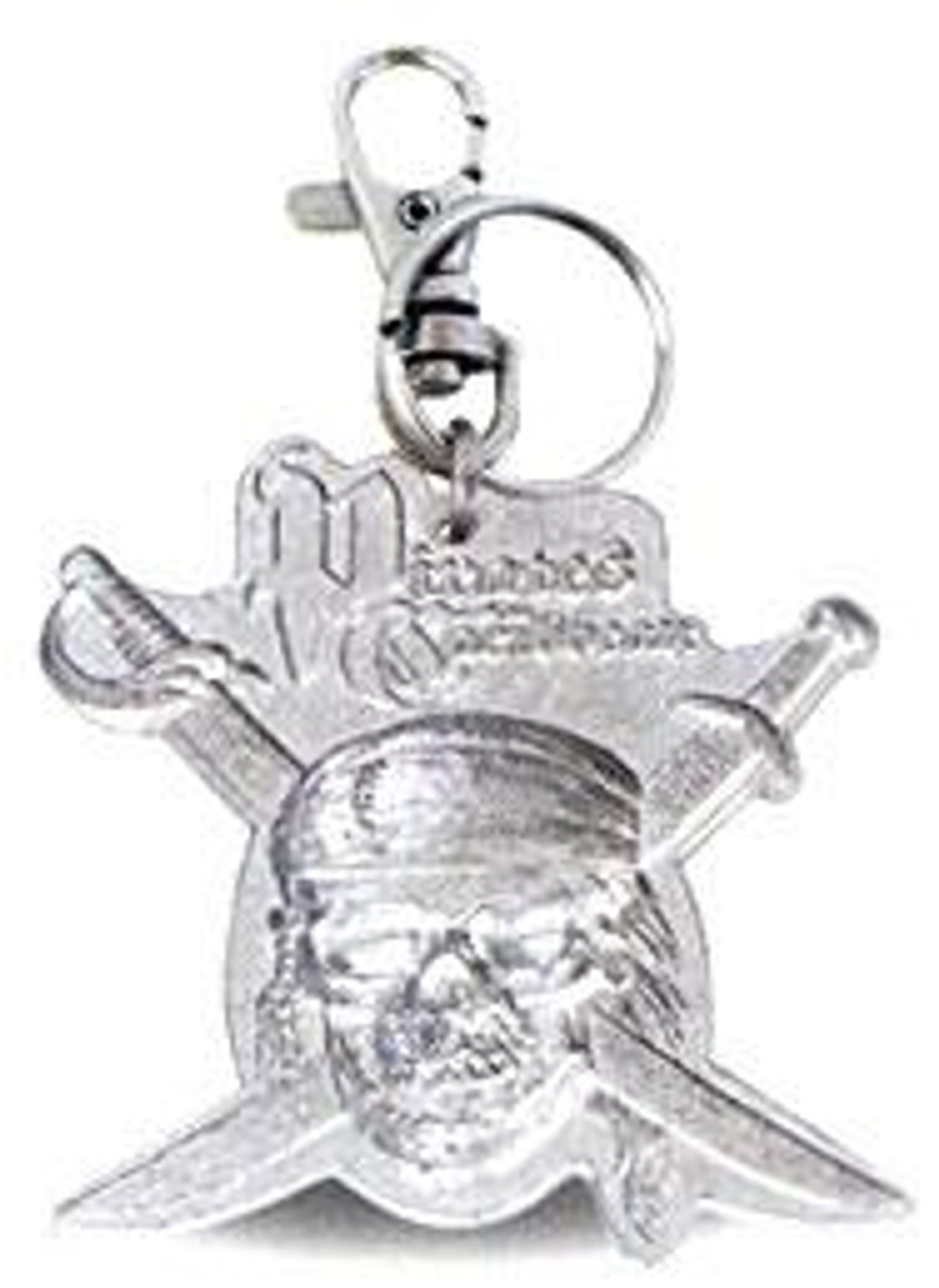 Pirates of the Caribbean Dead Man's Chest Pewter Skull & Bones Keychain