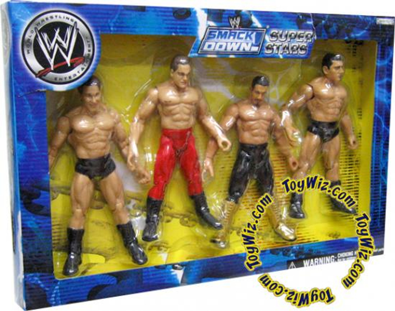 WWE Wrestling Exclusives Smack Down Super Stars Exclusive Action Figure 4-Pack