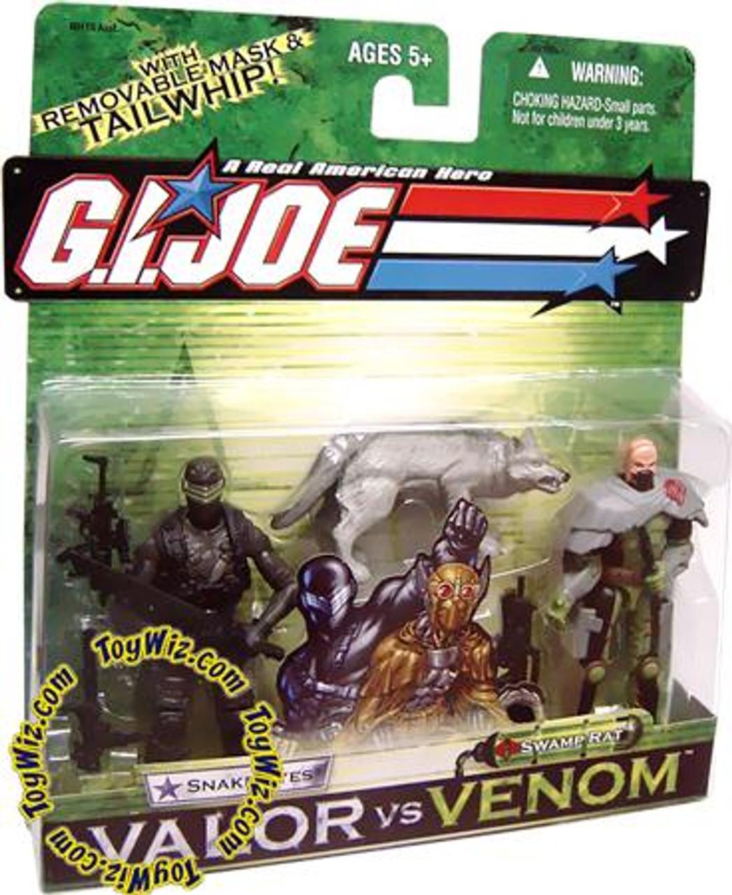 GI Joe Valor vs. Venom Snake Eyes & Swamp Rat Action Figure 2-Pack