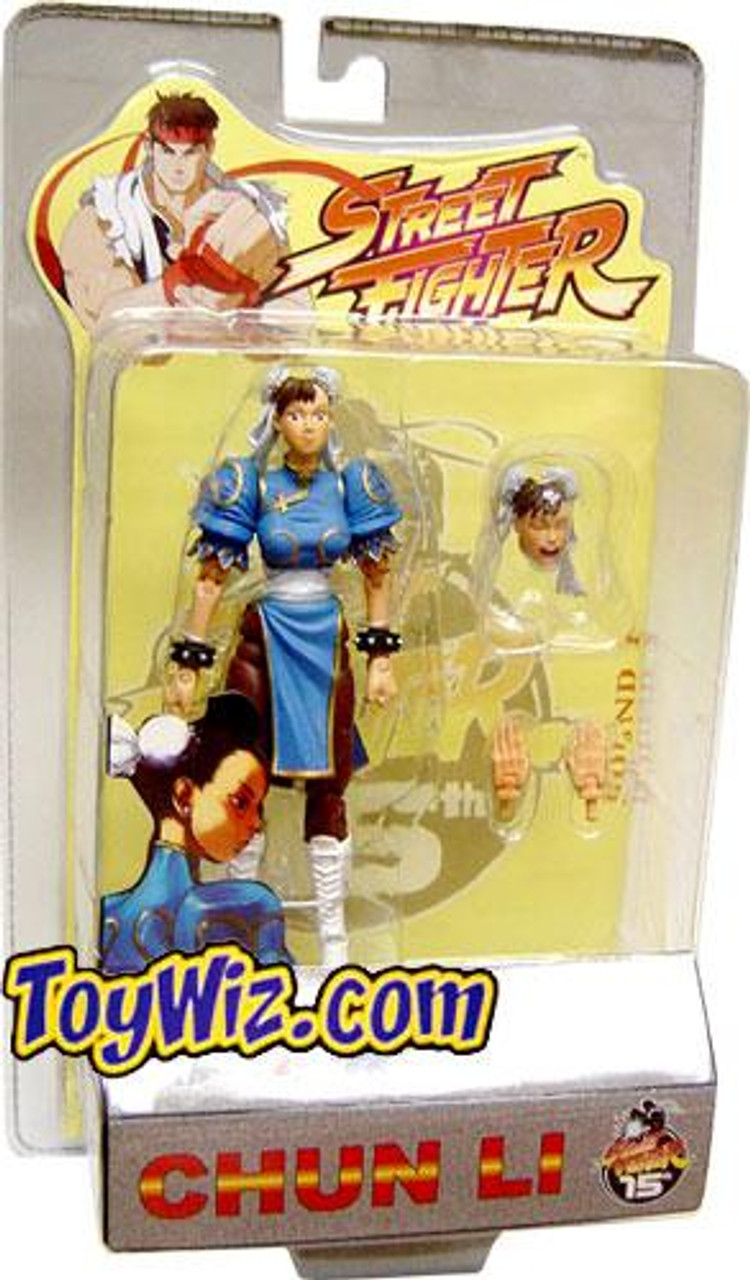 Street Fighter Series 1 Chun-Li Action Figure [Blue]