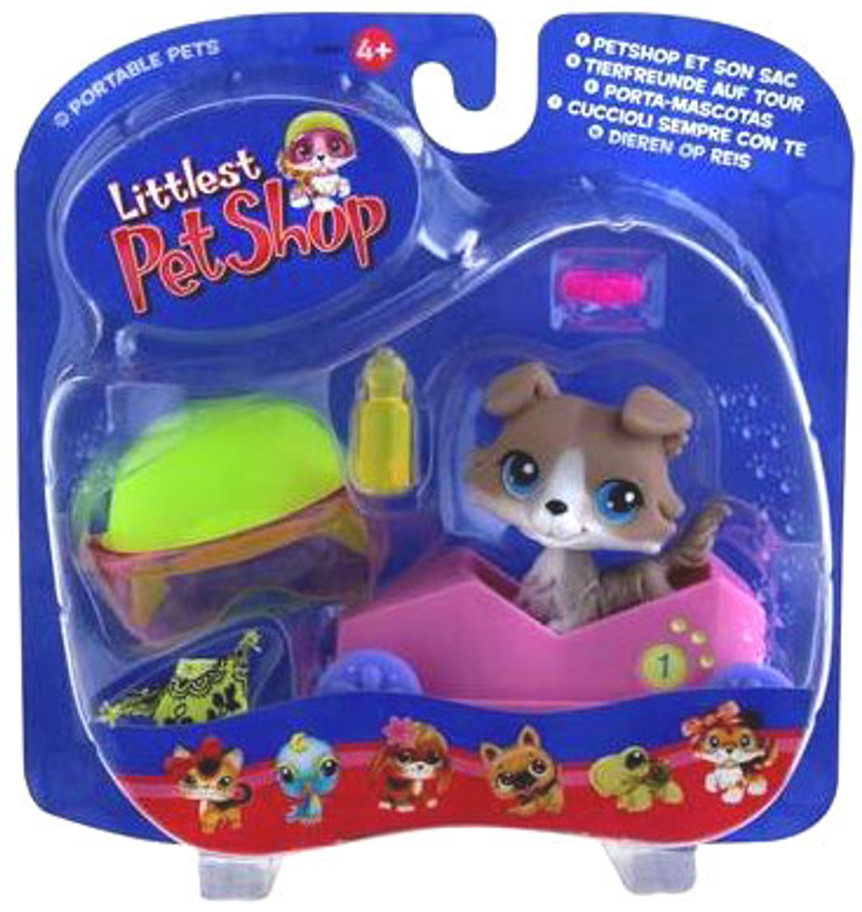 Littlest Pet Shop Portable Pets Collie Figure [Speedy Boxcar]