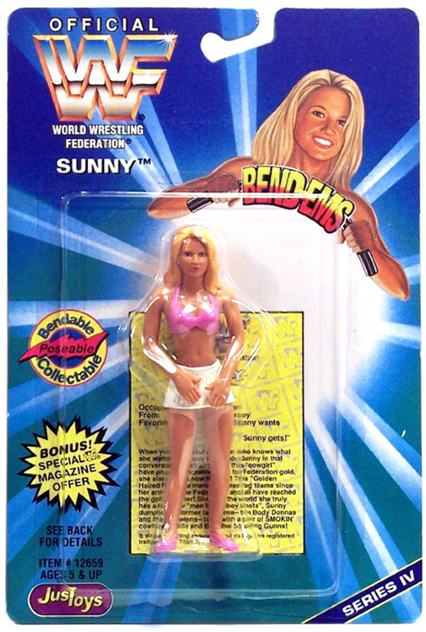 WWE Wrestling WWF Bend-Ems Series 4 Sunny Rubber Figure