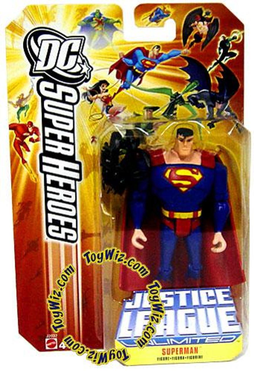 DC Justice League Unlimited Super Heroes Superman Action Figure [Black Mercy]
