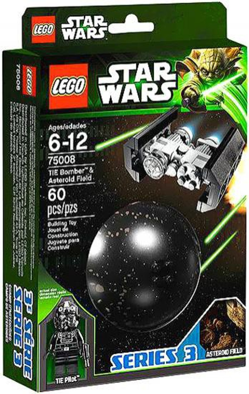 LEGO Star Wars Empire Strikes Back Planets Series 3 TIE Bomber & Asteroid Field Set #75008