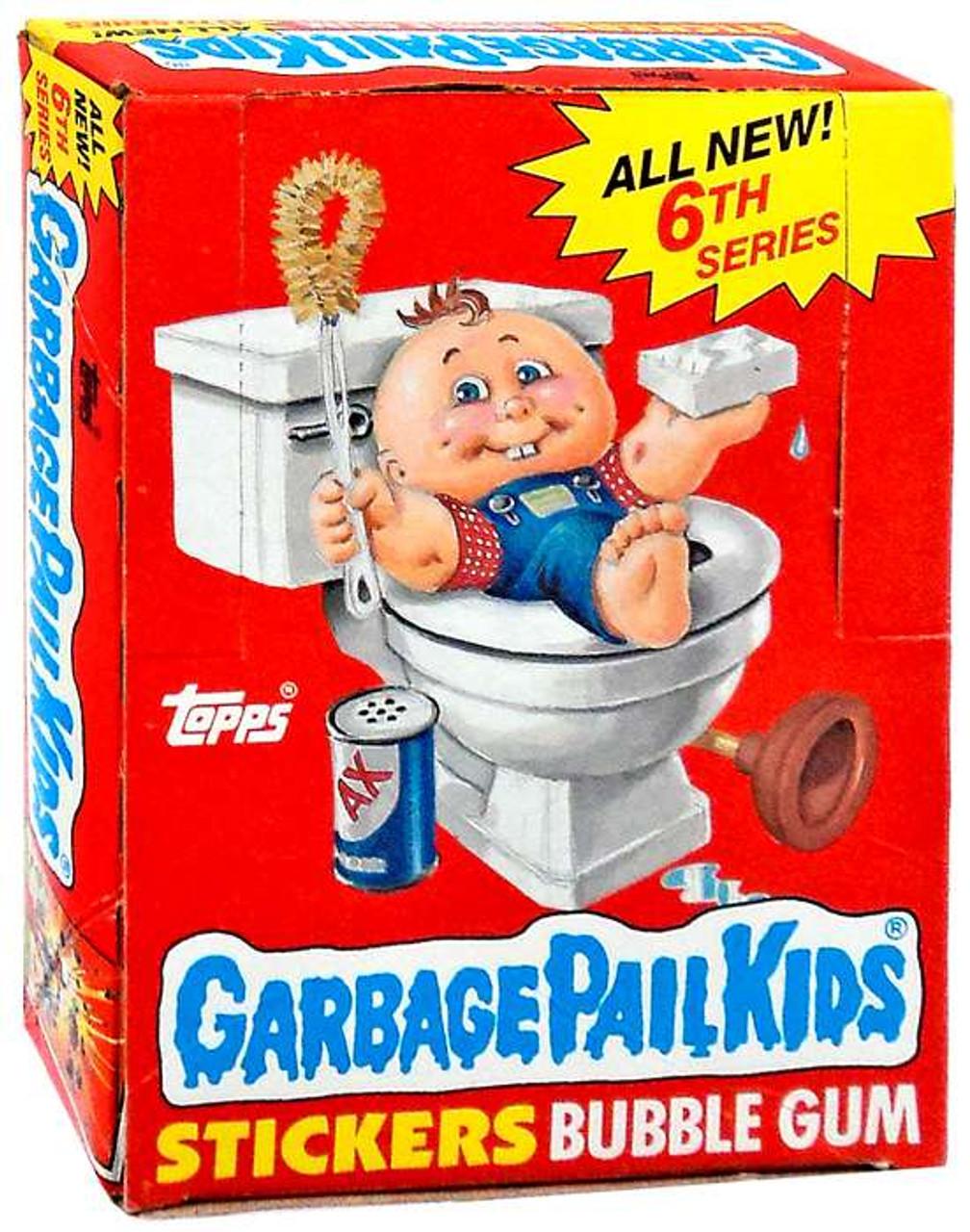 Garbage Pail Kids Series 6 Trading Card Sticker Box