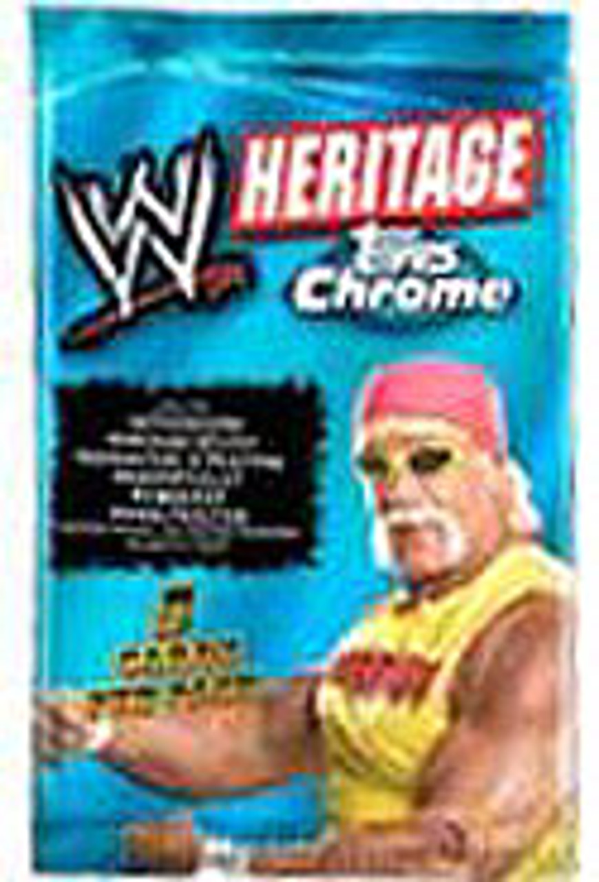 WWE Wrestling Topps Chrome 2006 WWE Heritage Trading Card Pack