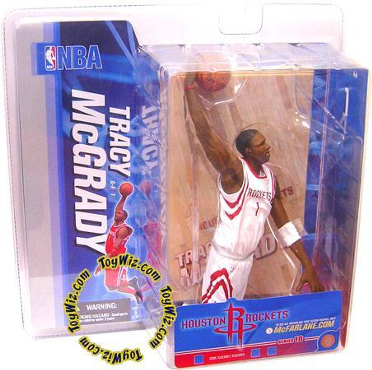 McFarlane Toys NBA Houston Rockets Sports Picks Series 10 Tracy McGrady Action Figure [White Jersey Variant]