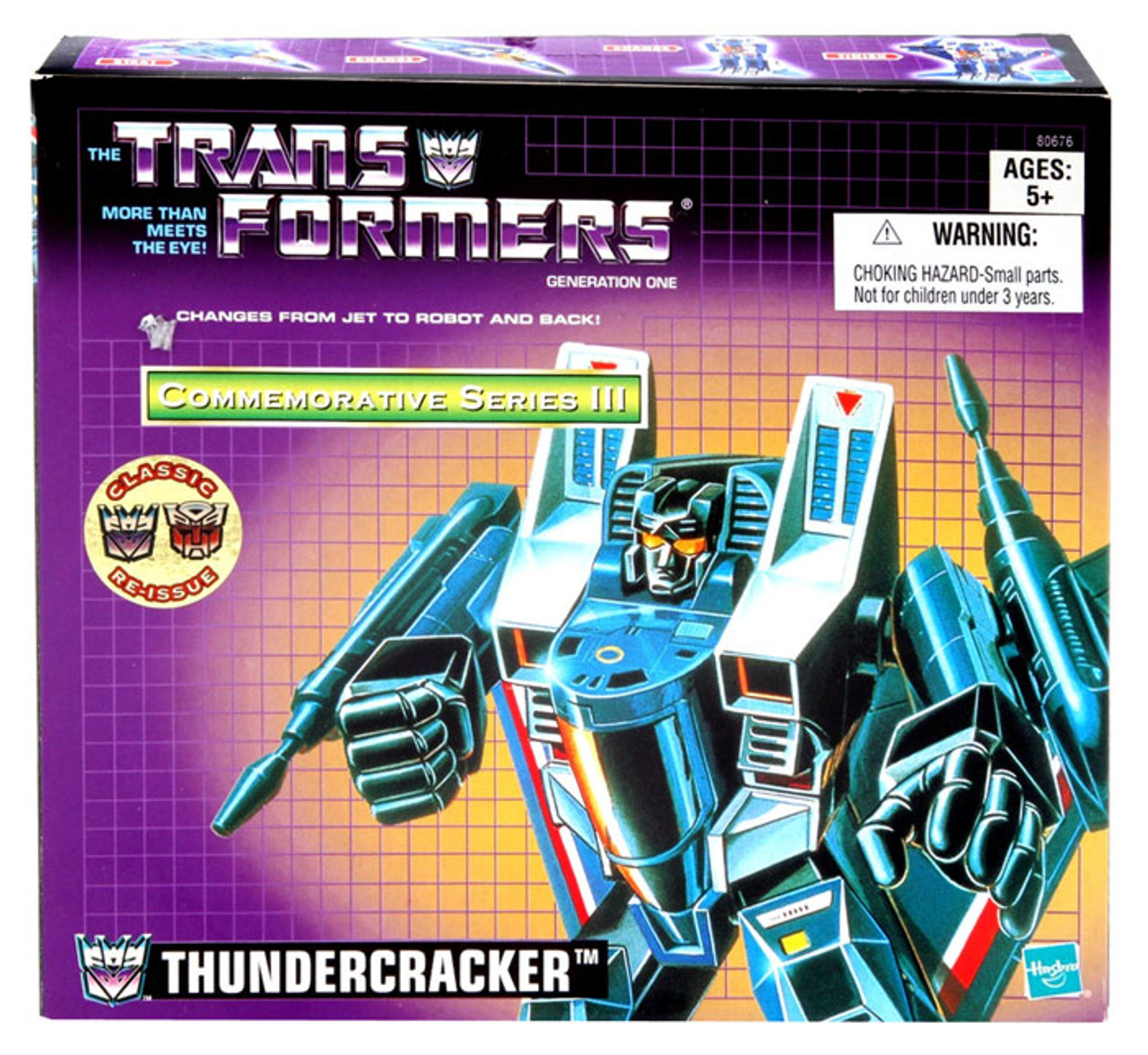 Transformers Generation 1 Commemorative Series III Thundercracker Action Figure