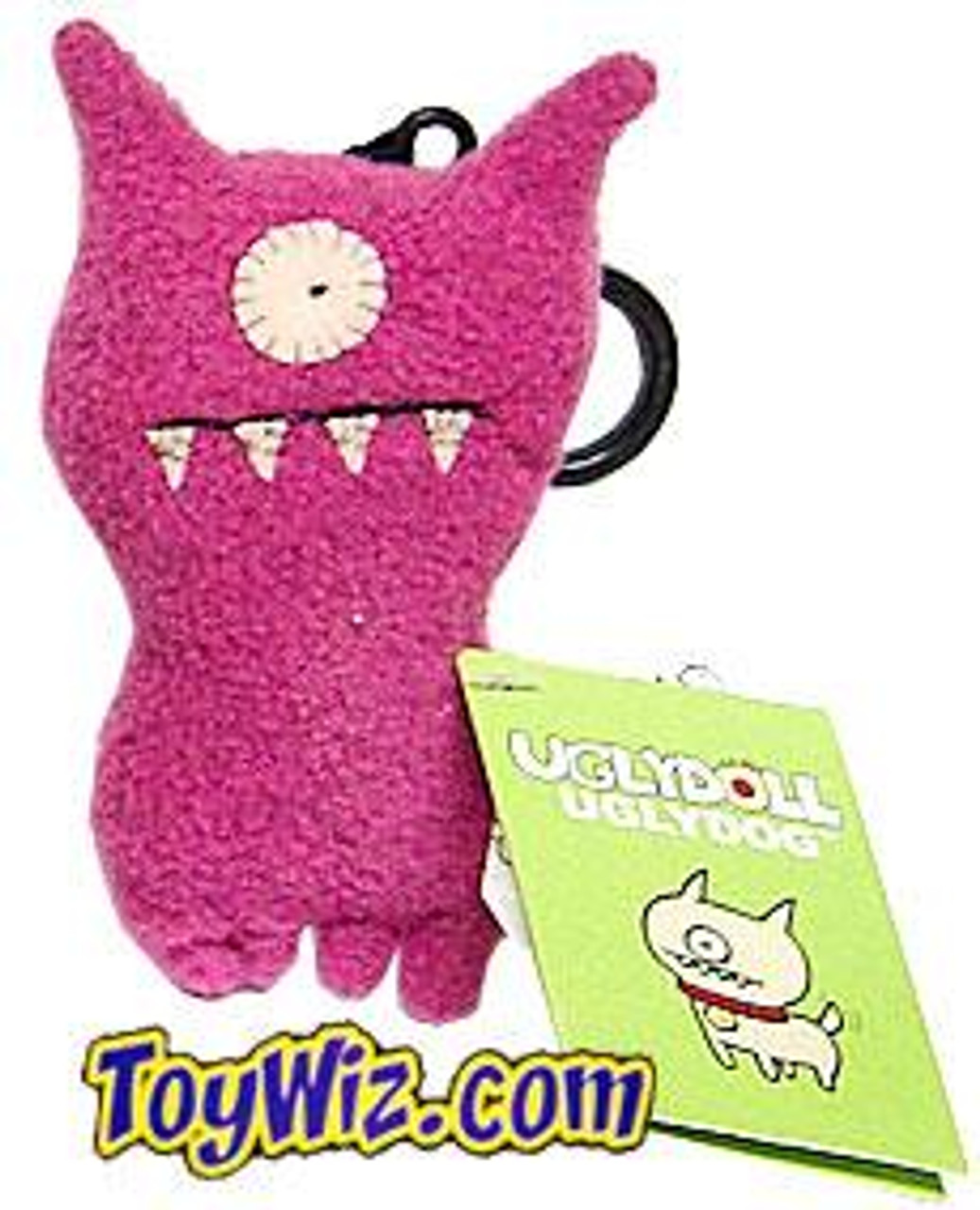 Uglydoll UglyDog Plush Clip On [Pink]