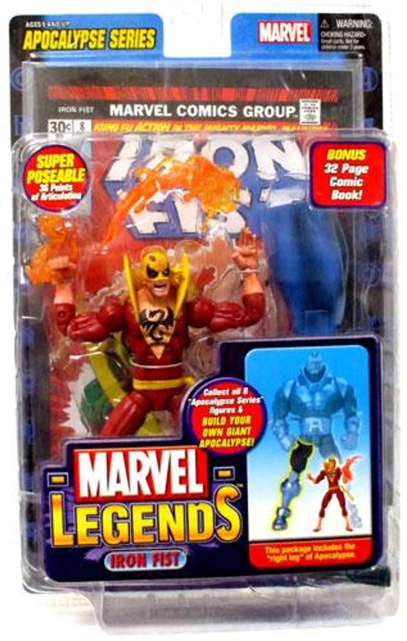 Marvel Legends Series 12 Apocalypse Iron Fist Action Figure [Red Variant]