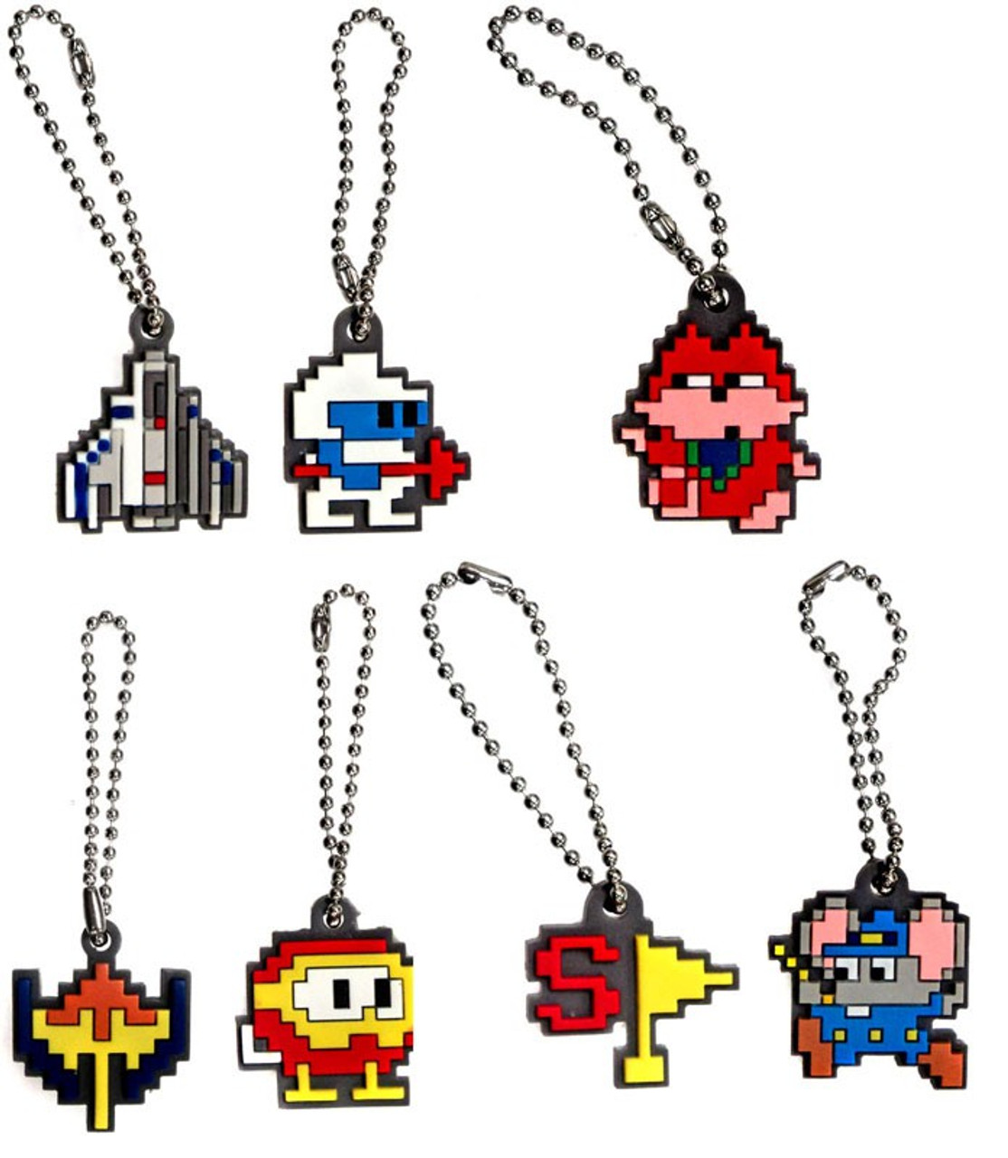 Video Game Classics Set of 7 Rubber Keychains