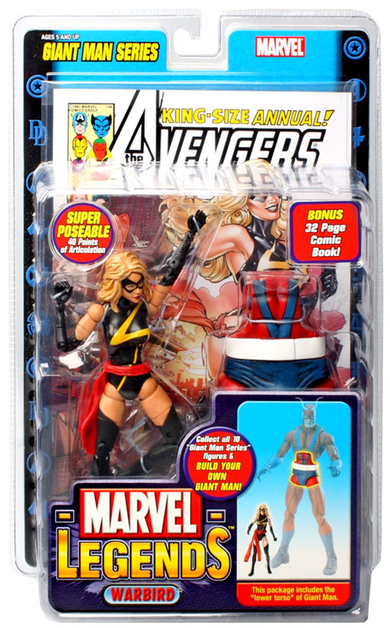 Marvel Legends Giant Man Build A Figure Warbird Exclusive Action Figure [Ms. Marvel]