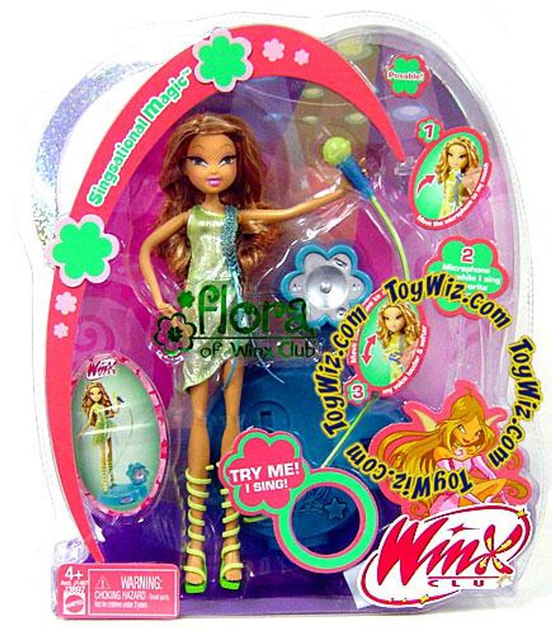 Winx Club Magic Fairy Singsational Flora Doll