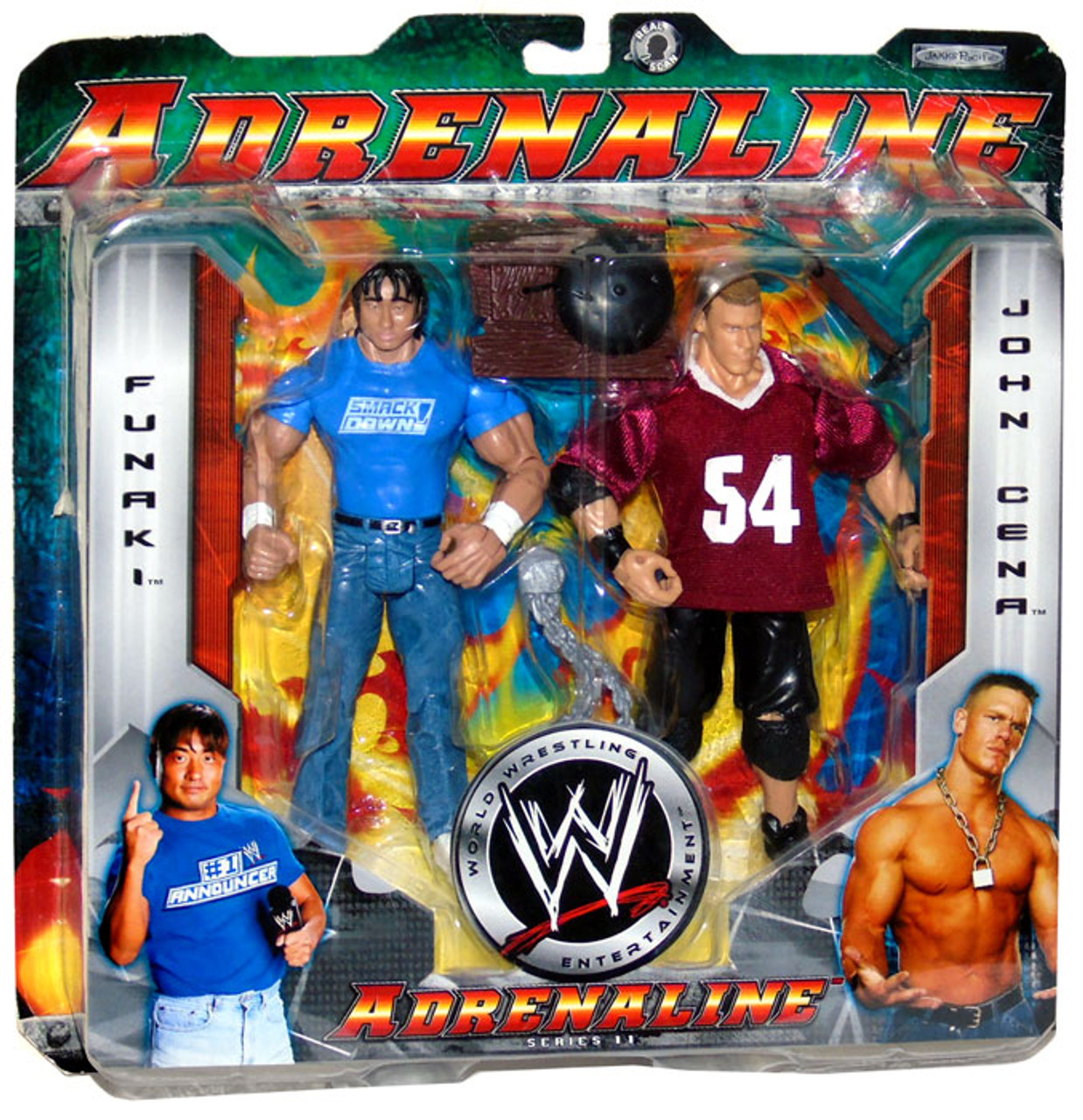 WWE Wrestling Adrenaline Series 11 John Cena & Funaki Action Figure 2-Pack