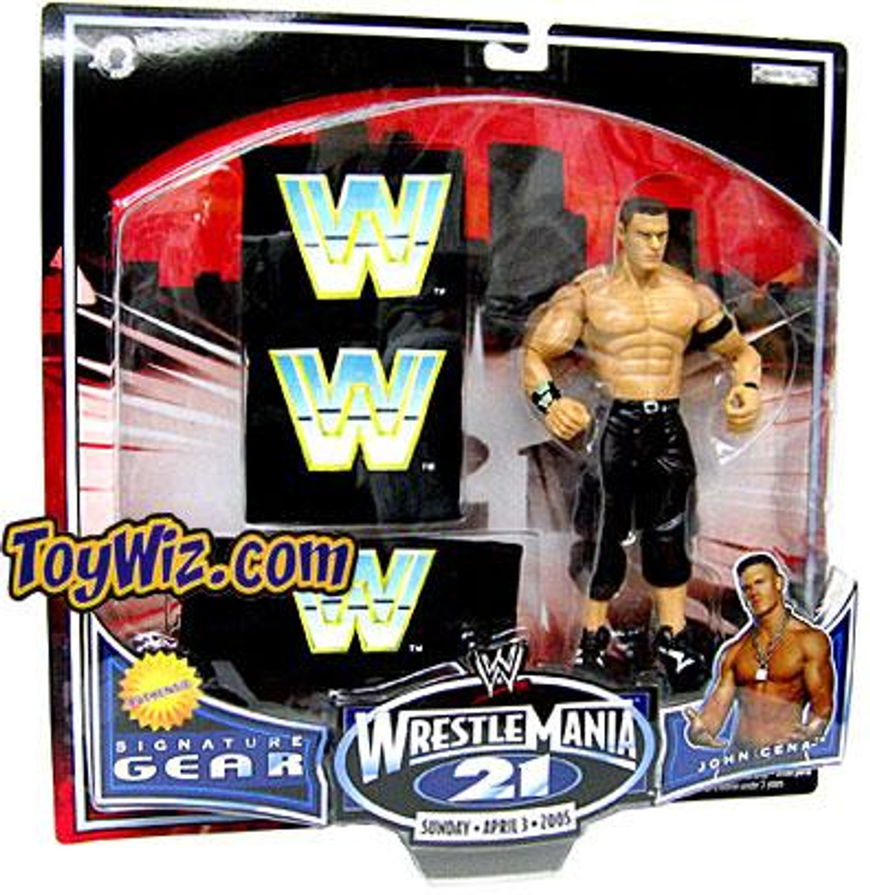WWE Wrestling WrestleMania 21 Series 1 John Cena Exclusive Action Figure