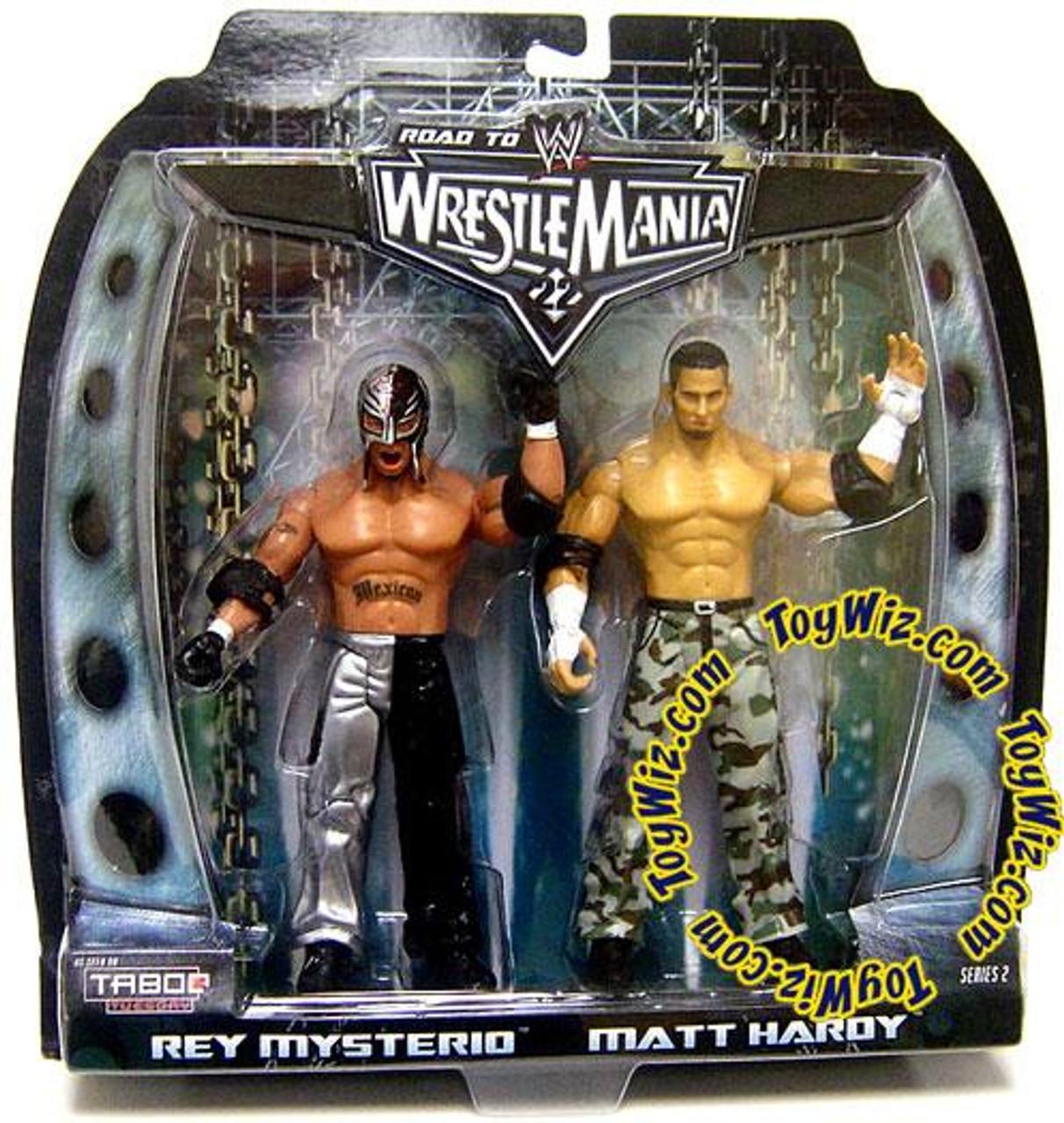 WWE Wrestling Road to WrestleMania 22 Series 2 Rey Mysterio & Matt Hardy Action Figure 2-Pack
