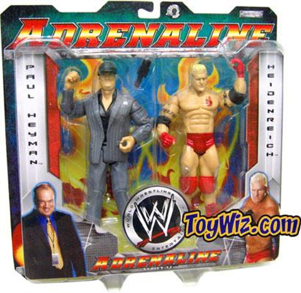 WWE Wrestling Adrenaline Series 11 Paul Heyman & Heidenreich Action Figure 2-Pack