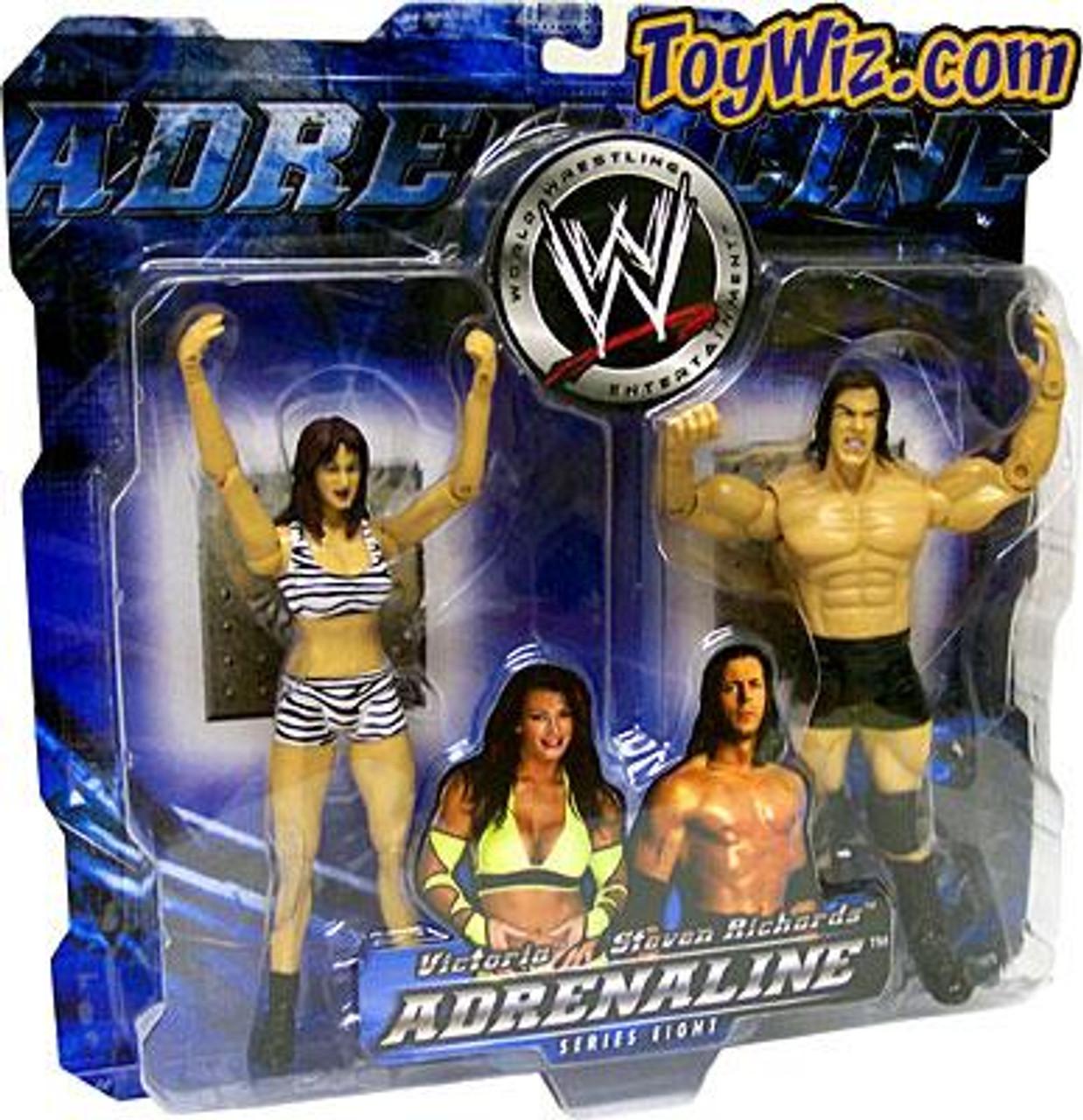 WWE Wrestling Adrenaline Series 8 Victoria & Steven Richards Action Figure 2-Pack